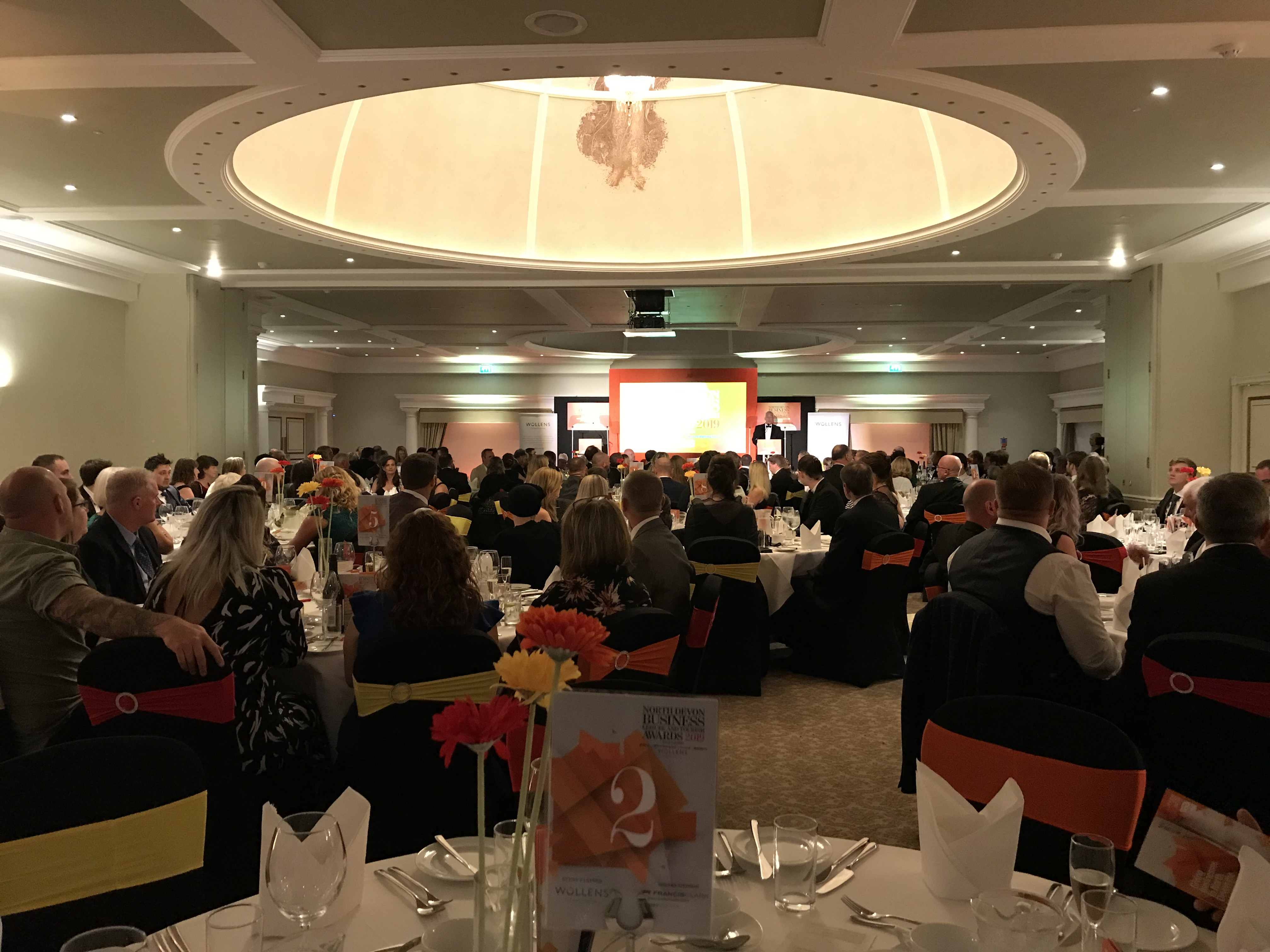 A packed room at the North Devon Business Awards 2019